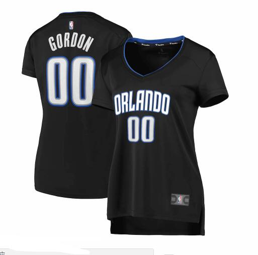 Camiseta baloncesto Aaron Gordon 0 2019 icon edition Negro Orlando Magic Mujer