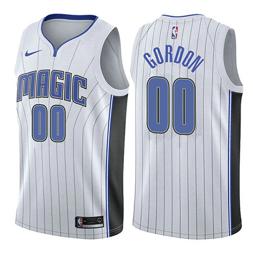Camiseta baloncesto Aaron Gordon 0 Association 2017-18 Blanco Orlando Magic Hombre