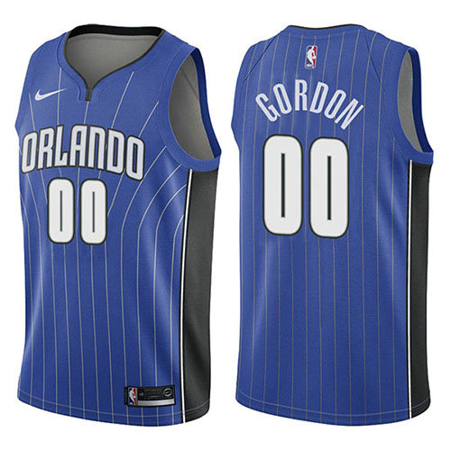 Camiseta baloncesto Aaron Gordon 0 Icon 2017-18 Azul Orlando Magic Hombre