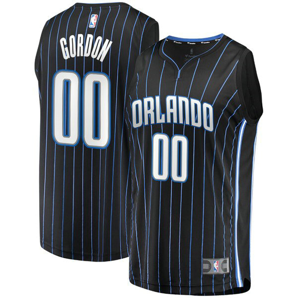Camiseta baloncesto Aaron Gordon 0 Statement Edition Negro Orlando Magic Hombre