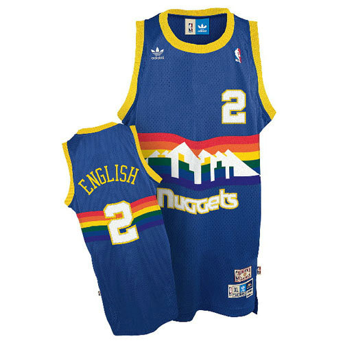 Camiseta baloncesto Alex English 2 Retro Azul Denver Nuggets Hombre