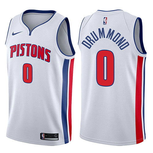 Camiseta baloncesto Andre Drummond 0 Association 2017-18 Blanco Detroit Pistons Hombre
