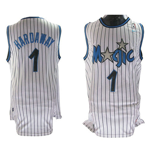 Camiseta baloncesto Anfernee Hardaway 1 Retro Blanco Orlando Magic Hombre
