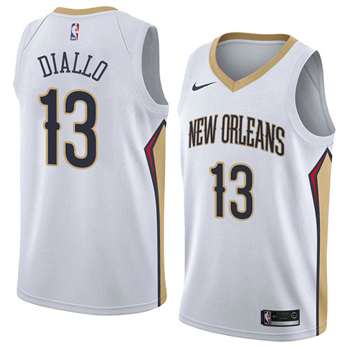 Camiseta baloncesto Cheick Diallo 13 Association 2018 Blanco New Orleans Pelicans Hombre