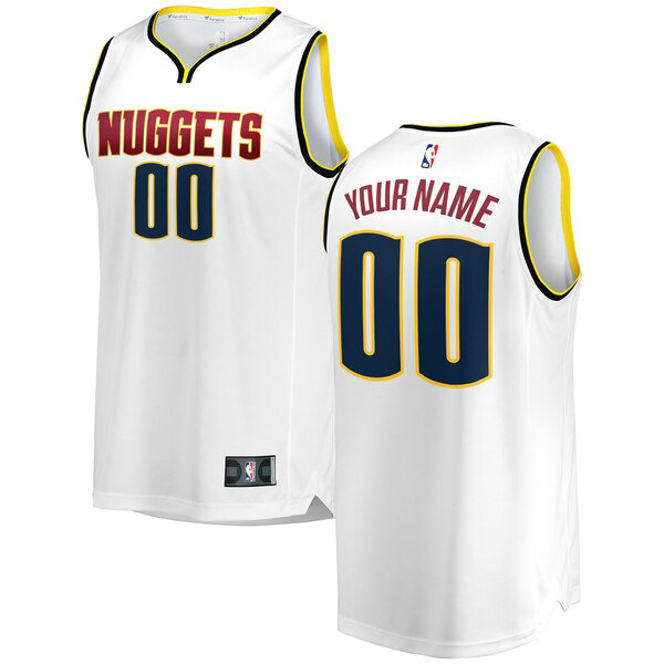 Camiseta baloncesto Custom 0 2018-2019 Association Edition Blanco Denver Nuggets Hombre