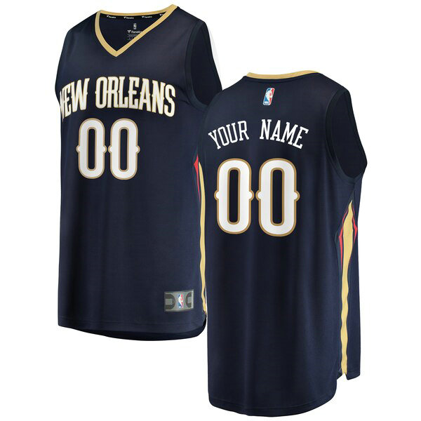 Camiseta baloncesto Custom 0 Icon Edition Armada New Orleans Pelicans Hombre