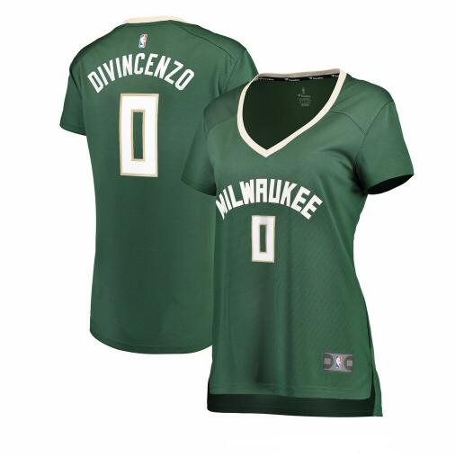 Camiseta baloncesto Donte DiVincenzo 0 icon edition Verde Milwaukee Bucks Mujer