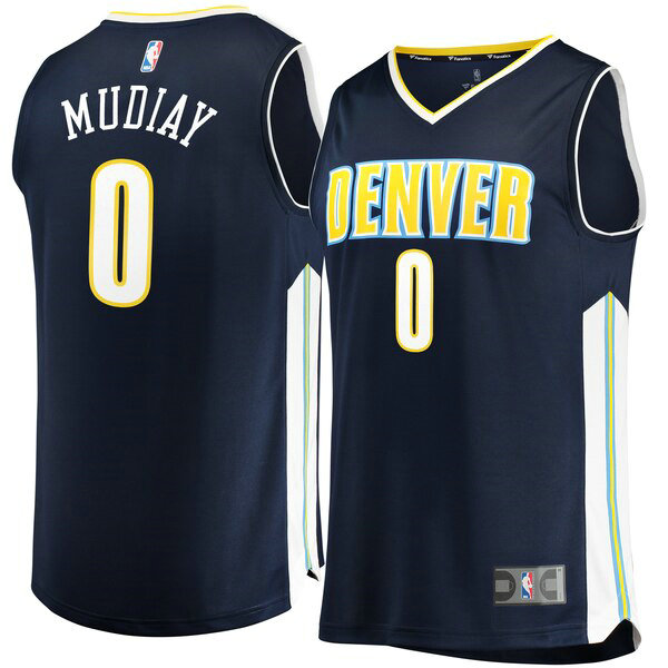 Camiseta baloncesto Emmanuel Mudiay 0 Icon Edition Armada Denver Nuggets Hombre