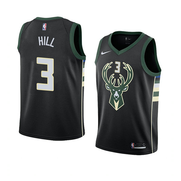 Camiseta baloncesto George Hill 3 Statement 2018 Negro Milwaukee Bucks Hombre