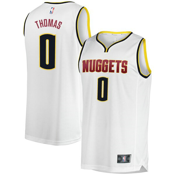 Camiseta baloncesto Isaiah Thomas 0 Association Edition Blanco Denver Nuggets Hombre
