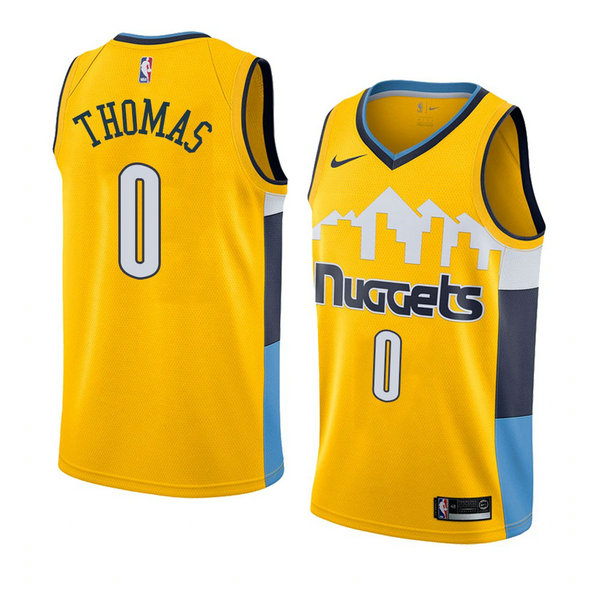 Camiseta baloncesto Isaiah Thomas 0 Statement 2018 Amarillo Denver Nuggets Hombre