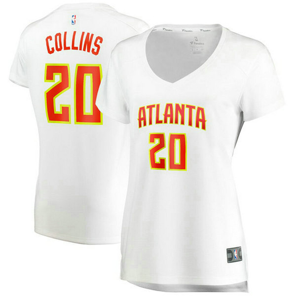 Camiseta baloncesto John Collins 20 association edition Blanco Atlanta Hawks Mujer