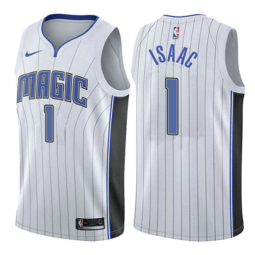 Camiseta baloncesto Jonathan Isaac 1 Association 2017-18 Blanco Orlando Magic Hombre