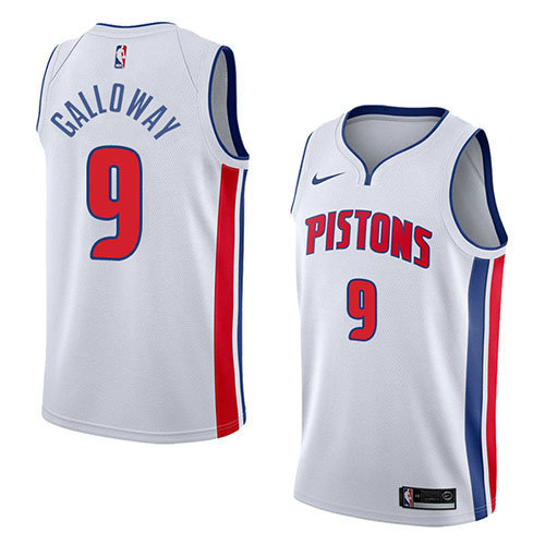 Camiseta baloncesto Langston Galloway 9 Association 2018 Blanco Detroit Pistons Hombre