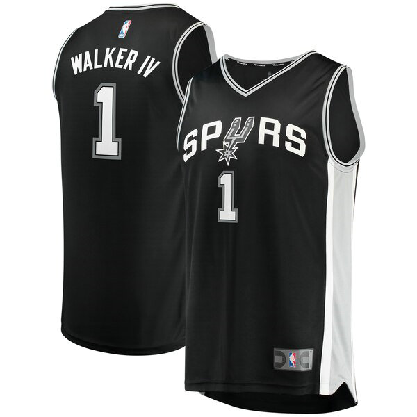 Camiseta baloncesto Lonnie Walker 1 Icon Edition Negro San Antonio Spurs Hombre