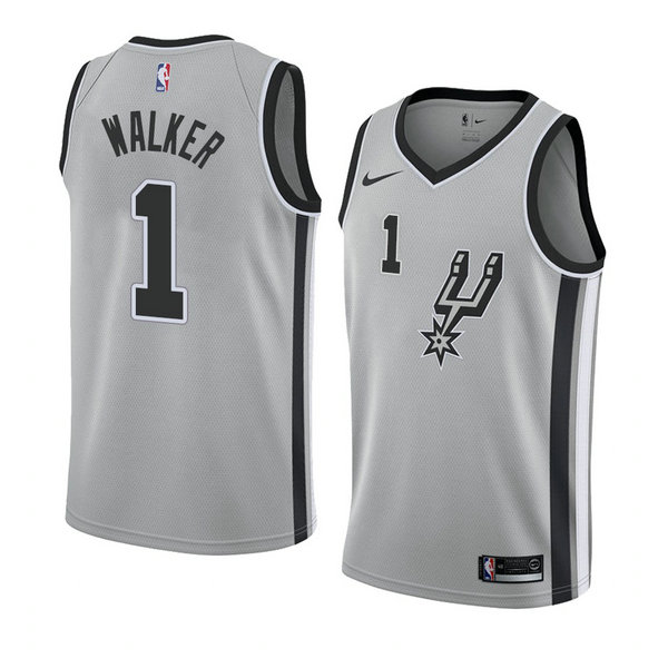 Camiseta baloncesto Lonnie Walker 1 Statement 2018 Gris San Antonio Spurs Hombre