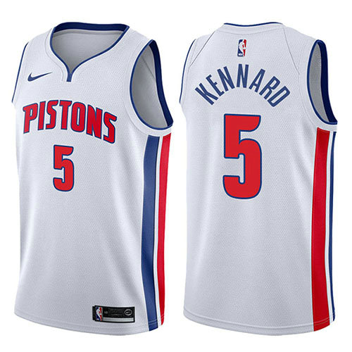 Camiseta baloncesto Luke Kennard 5 Association 2017-18 Blanco Detroit Pistons Hombre