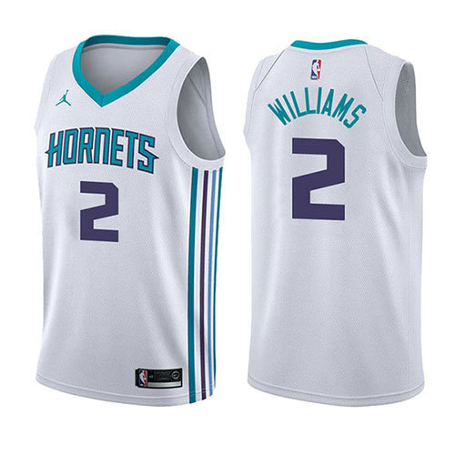 Camiseta baloncesto Marvin Williams 2 Association 2017-18 Blanco Charlotte Hornets Hombre