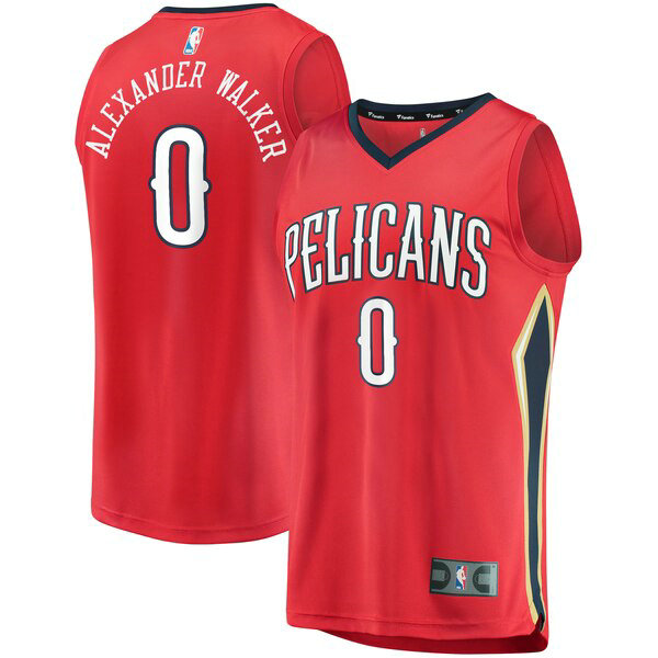 Camiseta baloncesto Nickeil Alexander-Walker 0 Statement Edition Rojo New Orleans Pelicans Hombre