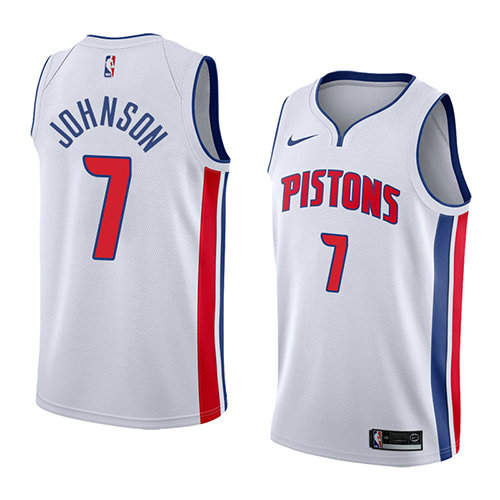 Camiseta baloncesto Stanley Johnson 7 Association 2018 Blanco Detroit Pistons Hombre