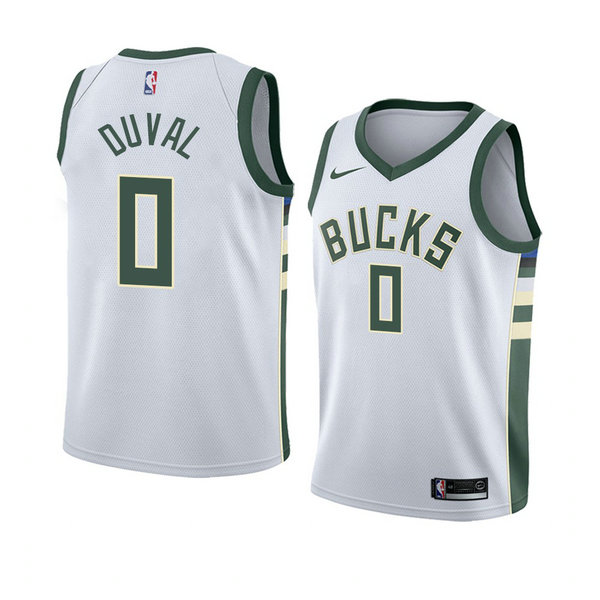 Camiseta baloncesto Trevon Duval 0 Association 2018 Blanco Milwaukee Bucks Hombre