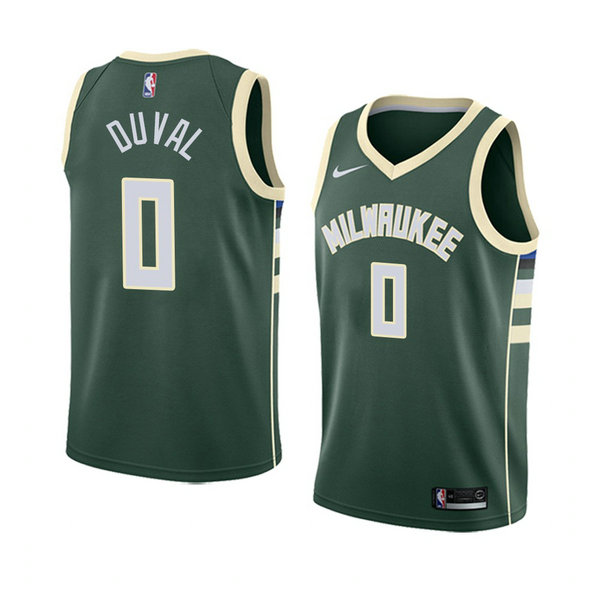 Camiseta baloncesto Trevon Duval 0 Icon 2018 Verde Milwaukee Bucks Hombre