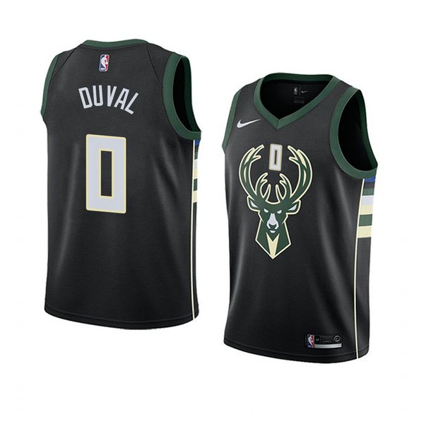 Camiseta baloncesto Trevon Duval 0 Statement 2018 Negro Milwaukee Bucks Hombre