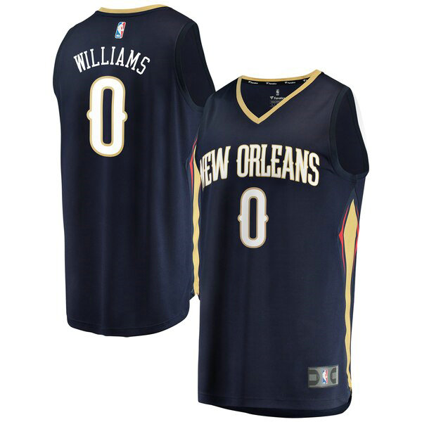 Camiseta baloncesto Troy Williams 0 Icon Edition Armada New Orleans Pelicans Hombre