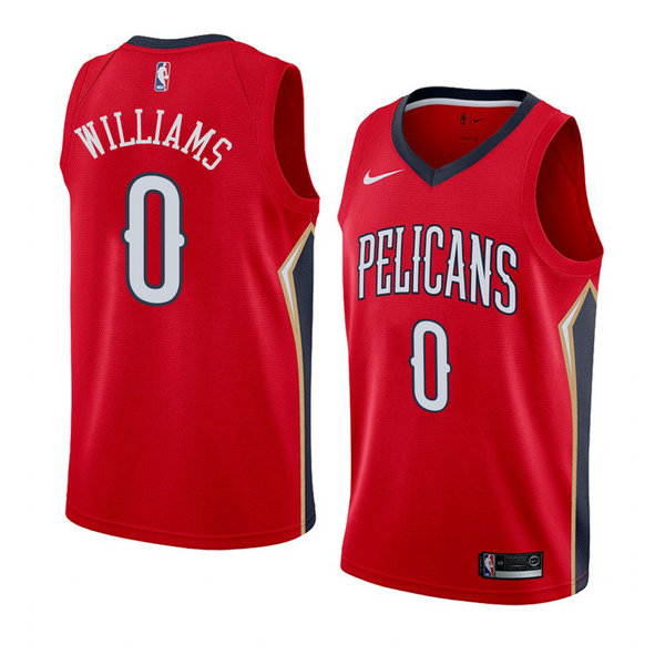 Camiseta baloncesto Troy Williams 0 Statement 2018 Rojo New Orleans Pelicans Hombre