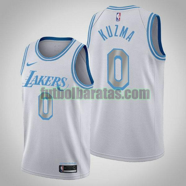 camiseta 2020 2021 kyle kuzma 0 los angeles lakers blanco hombre