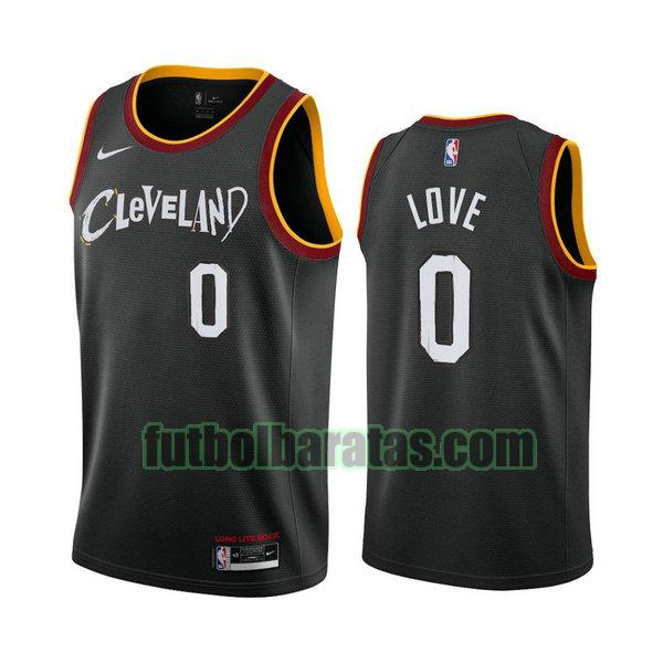 camiseta 2021 kevin love 0 cleveland cavaliers negro hombre