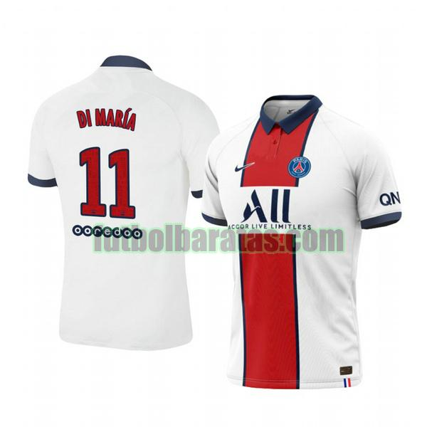 camiseta angel di maria 11 camiseta paris saint germain 2020-2021 segunda