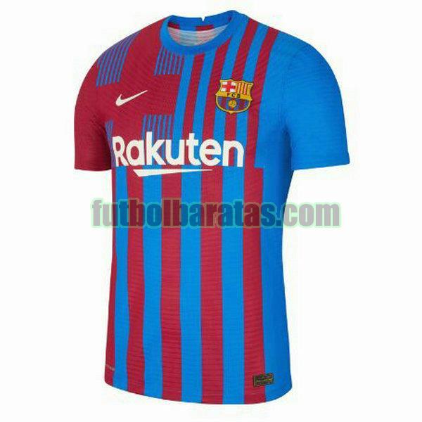 camiseta barcelona 2021 2022 rojo azul primera equipacion