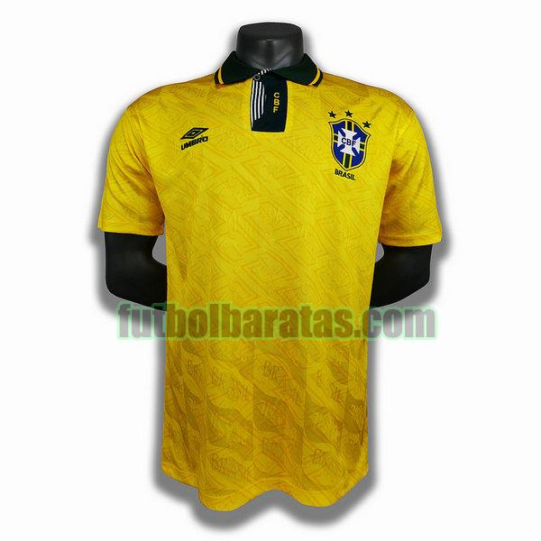 camiseta brasil 1991 1993 amarillo primera player