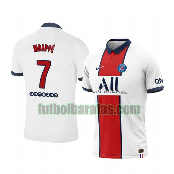 camiseta kylian mbappe 7 camiseta paris saint germain 2020-2021 segunda