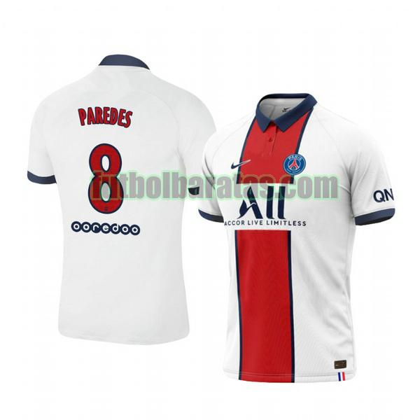 camiseta leandro paredes 8 camiseta paris saint germain 2020-2021 segunda