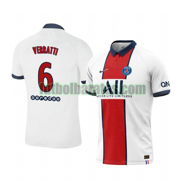 camiseta marco verratti 6 camiseta paris saint germain 2020-2021 segunda