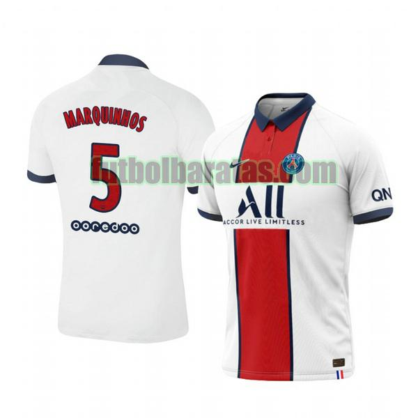 camiseta marquinhos 5 camiseta paris saint germain 2020-2021 segunda