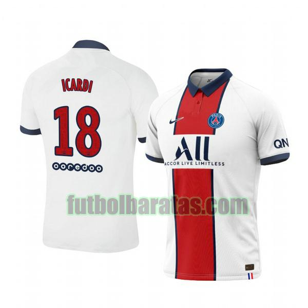 camiseta mauro icardi 18 camiseta paris saint germain 2020-2021 segunda