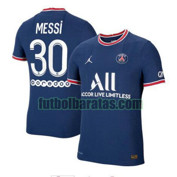 camiseta messi 30 paris saint germain 2021 2022 azul primera