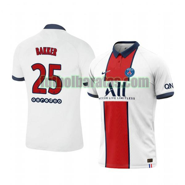 camiseta mitchel bakker 25 camiseta paris saint germain 2020-2021 segunda