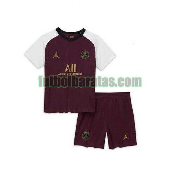 camiseta niño paris saint germain 2020-2021 púrpura tercera