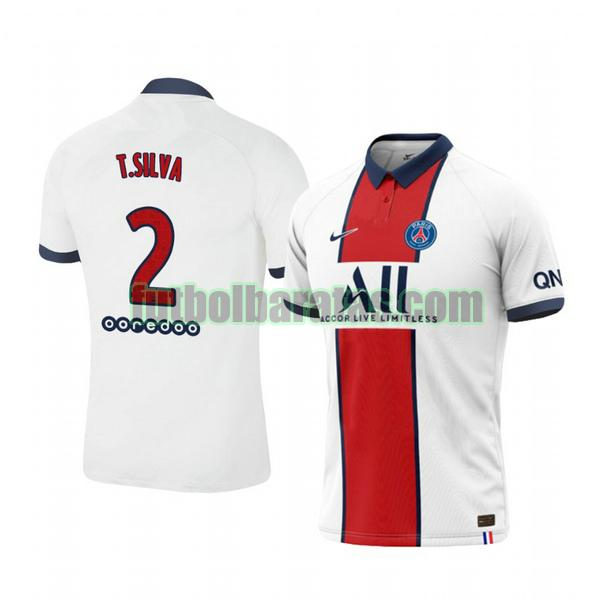 camiseta thiago silva 2 camiseta paris saint germain 2020-2021 segunda